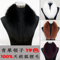 Wholesale 19 Colors Real Fox Fur Collar Fox Scarf Man and Woman Warm High Quality Shawls