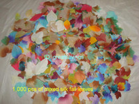 Wholesale 1000 Mixed Silk fall leaves Autumn leaves Arltificial maple leaves wedding party decoration