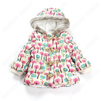Wholesale New arrival Baby girls hoodied down coat jacket outwear kids children colorful tree coat