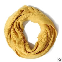 Wholesale Fashion scarf shawls wool pure color warm collar men women warm collar collar scarf