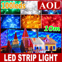 Wholesale 10m bulbs colorful String Fairy Light XMAS Christmas Party Wedding LED Twinkle light Strips