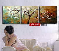Wholesale 100 hand draw abstract modern oil painting on canvas modern safa background abstract fortune tree