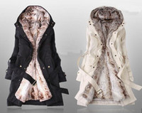 coats - New arrival Fashion Hooded Women s Fur Winter With Faux Fur Ling Long Coat Outerwear