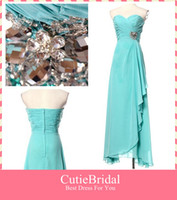 Wholesale fresh chiffon fabric ladies evening dress ankle length bridesmaid dresses with sweetheart neckline