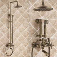 Wholesale Antique Brass Tub Shower Faucet with Shower Head amp Hand Shower