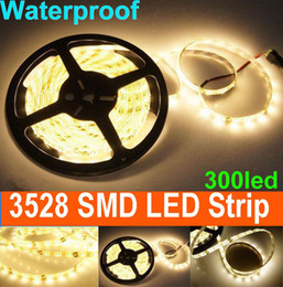 LED Light 5M 300 LEDS 3528 SMD warm White Waterproof LED Strip Light 12V 60led m for Home Garde -10m