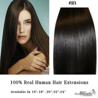 Wholesale 12 quot quot Clip In On Remy Human Hair Extension set g set sets B off black melantha_wigs