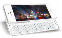 Wholesale iPhone White Black Wireless Bluetooth Slide QWERTY Keyboard super slim case for iPhone5 G