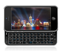 Wholesale Black White Bluetooth Sliding Lighted Angled qwerty Keyboard Case for iPhone G FREE DHL