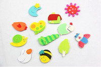 Wholesale Cute Mini Wood Fridge Magnet Memo Sticker wood Refrigerator Magnetic