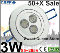 al por mayor poder reina-EXPRESS FREE DELIVERY Alta potencia AC85 ~ 265V LED 3W Lámpara de techo interior Down luz 400Lm Bulbo dulce-Queen Store