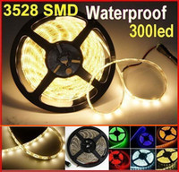 SMD 3528 led ribbon lights - free by DHL led strip300 leds warm white SMD LED Strip Light Waterproof LED ribbon lighting for Christmas lighting home M