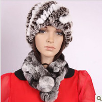 Wholesale Fashion Real Rex Rabbit Fur Scarf Woman Cute Warm Real Fur Shawls