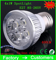 Wholesale Retail High power LM CREE W x1W GU10 MR16 E27 E14 Led Light Lamp Spotlight led bulb