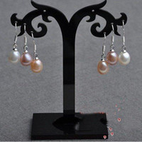 White Women's Party New Arrive Christmas Gift Jewelry ! S925 Silver AA 7-8MM Multicolor Exquisite Genuine Pearl Earring
