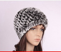 Wholesale New Arrival Rex Rabbit Fur Woman Hat Fashion Real Fur Hat Winter lady hat caps