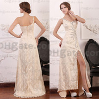 Actual Images beautiful prom dresses - New Arrival Gold Colour Beautiful Beaded Evening Prom Dresses PD049