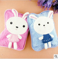 Wholesale 2012 newest plush cartoon super soft velvet charge hot water bottle electric heating pads warm bags