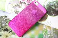 Plastic back drop - Drops Fresh raindrops gradation PC back cover case for iphone5