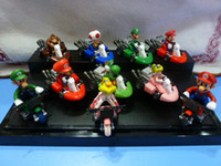 "Super Mario The Valentine Day  retail Super Mario Bros Kart Pull Back Car 2"" figure Toy Mario Brother"