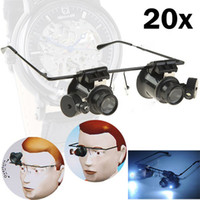 Wholesale hot X Magnification Glasses Type Watch Repair Magnifier with LED Light