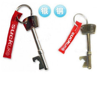 Wholesale Bottle Opener Brand New Suck UK key Bottle Opener Steel Keychain Ring Beer Cola Tools