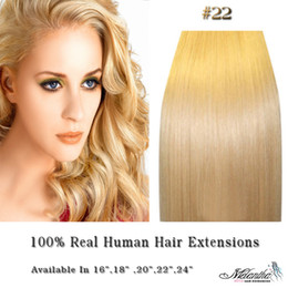 Wholesale HOT Clip In On Remy Human Hair Extension inch set g set sets medium blonde