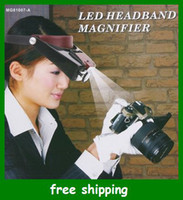 Wholesale 10X LED Light Headset Head Visor Magnifier Loupe Jeweler Magnifying Microscope Gifts