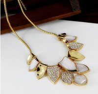 Wholesale Golden Leaf Combinations Necklaces High grade Gold Plated Necklaces