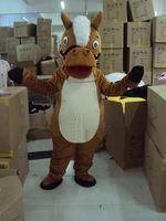 Wholesale Horse Mascot Animal Costumes Cartoon Mascot Fancy Dress Halloween Mascots Customized