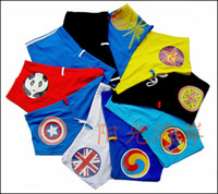 Wholesale 2013 Fashion Men Boxer Swimwear Swimming Trunks Shorts National Flag Fashion Logo Colors US UK SP