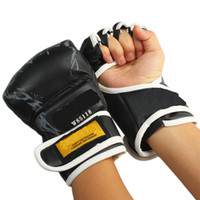 Wholesale Boxing Gloves PU Leather Tigers Style Gloves Boxing Equipment New Black pairs