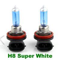 Wholesale H8 Halogen Xenon Lamp K Low Beam V W New Super White Light Bulbs