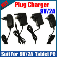 Wholesale 10PCS Power Adapter V A USA EU UK AU home Plug Charger for Flytouch SuperPAD ZTPad Tablet PC
