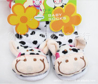 Wholesale terry socks children socks towel animals cartoon toys socks non slip floor socks pairs