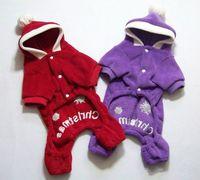 Wholesale Xmas Red Purple dog clothing fashion Santa Claus Cinderella outfit Christmas pet clothes