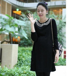 Wholesale 2012 spring and autumn fashion maternity clothing best mom pearl one piece dress