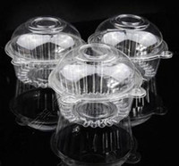 Wholesale Large Clear Cupcake Pods Boxes plastic clear cake carrier cupcake case