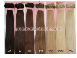 Wholesale 20 quot high quality clip on extensions remy clip in human hair extensions g set sets
