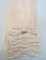 Wholesale thickest quot clip on extensions remy clip in human hair extensions g set sets