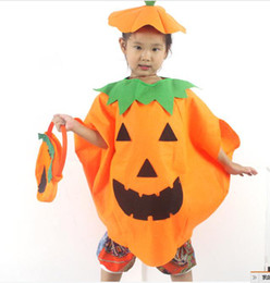 Wholesale Halloween costumes costumes pumpkin hat pumpkin clothes pumpkin bags for children adults