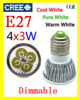 Wholesale HOT led lamp x3W W E27 MR16 GU10 Dimmable V Led Lights led Spotlight LED Bulbs Downlight