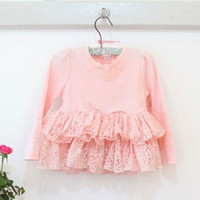 PINK IDEAL baby girl kids long sleeve outfits flower floral ...