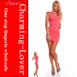 Wholesale 3 color hole neck party dress women fashion dress sexy mini dress cheap dropshipping cheap