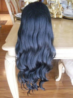 wavy good quality wigs - Stock Inch Synthetic Full Lace Front Wig Color B Good Quality Silky Body Wavy