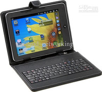 Wholesale 10 quot Leather Case With USB Keyboard for for inch inch Tablet PC Stylus Pen PU Material