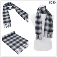 Wholesale New fashion warm men s black plaid acrylic tatting printed scarves Mixed order length cm