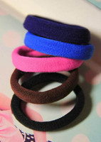 Wholesale 480X High Elasticity Hair Band Colored Seamless Hair Rope