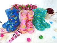 Wholesale New Fashion cute Waterproof Rubber Rain Boots Colorfull linda Kids Girls Rain Boots