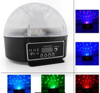 Wholesale Mini Disco DJ Stage Light LED RGB Crystal Magic Ball Effect stage with channel